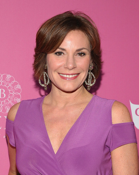 LuAnn de Lesseps Bob [hair,hairstyle,eyebrow,chin,shoulder,brown hair,layered hair,makeover,hair coloring,smile,luann de lesseps,new york city,haus nightclub,magazine,so sexy nyc event]