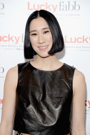 Eva Chen attended the Lucky FABB conference wearing a sleek center-parted bob.