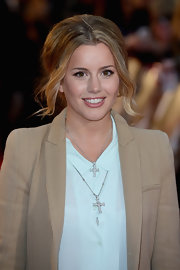 Caggie Dunlop wore two cross pendant necklaces at European premiere of 'The Lucky One.'