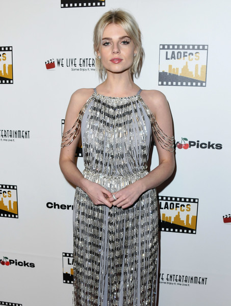 Lucy Boynton Diamond Ring [clothing,dress,premiere,hairstyle,cocktail dress,fashion,carpet,red carpet,long hair,fashion model,lucy boynton,online film critics society award ceremony,los angeles,california,hollywood,taglyan cultural complex]
