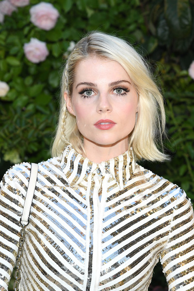 Lucy Boynton Short Side Part