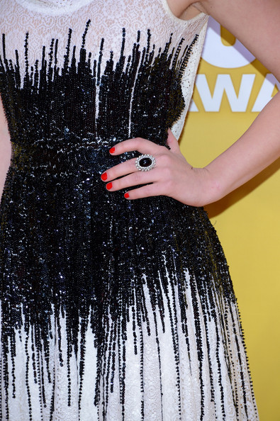 Lucy Hale Red Nail Polish