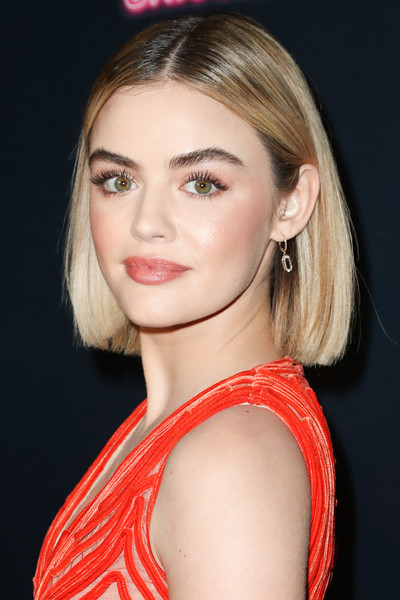 Lucy Hale Bob [the unicorn,hair,face,eyebrow,blond,hairstyle,lip,chin,beauty,skin,shoulder,arrivals,lucy hale,arclight hollywood,california,the orchard,premiere,premiere]
