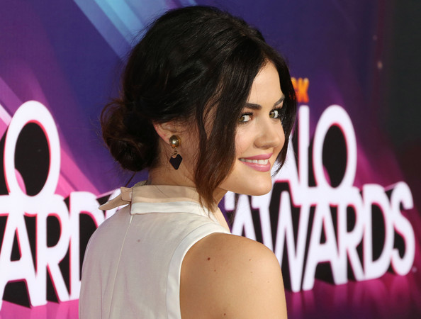Lucy Hale Messy Updo