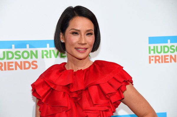 Lucy Liu Bob [hair,shoulder,skin,red,hairstyle,beauty,chin,joint,lip,smile,lucy liu,hudson river park annual gala - arrivals,new york city,cipriani south street,hudson river park annual gala]