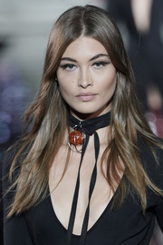 Grace Elizabeth worked a stylish layered cut at the LuisaViaRoma CR runway show.