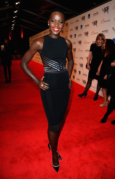 Lupita Nyong'o Cutout Dress