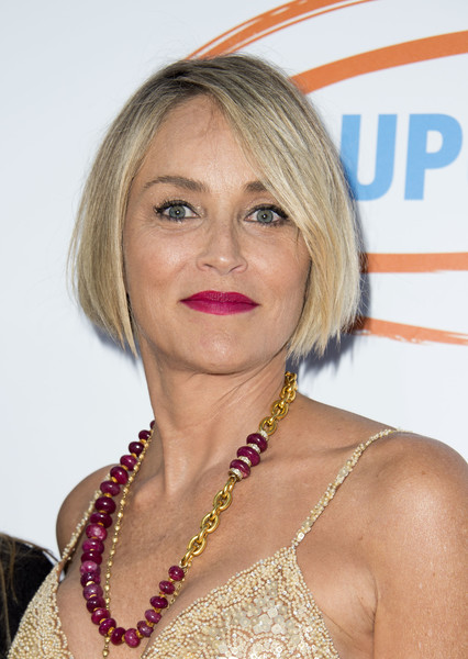 Sharon Stone attended the 2017 Orange Ball wearing her hair in a neat bob.