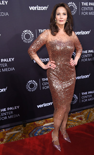 Lynda Carter Sequin Dress [paley honors: celebrating women in television,dress,clothing,red carpet,carpet,cocktail dress,shoulder,premiere,fashion,fashion model,flooring,lynda carter,new york city,cipriani wall street,the paley honors: celebrating women in television,event]