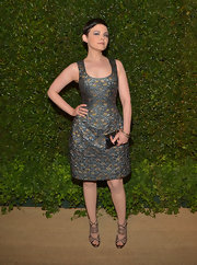 Ginnifer Goodwin oozed elegance in this metallic sleeveless dress.