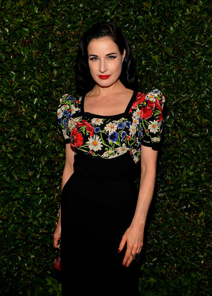More Pics of Dita Von Teese Medium Wavy Cut (1 of 3) - Dita Von Teese Lookbook - StyleBistro