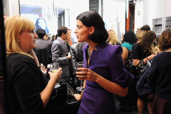 More Pics of Crystal Renn Pumps (2 of 5) - Heels Lookbook - StyleBistro [event,fashion,design,fun,crowd,drink,conversation,tourism,performance,brooke shields collection at 5th avenue flagship,crystal renn,c,5th avenue flagship,nyc,mac cosmetics,launch]