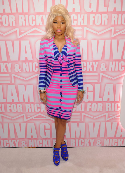 More Pics of Nicki Minaj Pink Lipstick (1 of 37) - Nicki Minaj Lookbook - StyleBistro