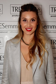 Whitney Port wore her long locks in pretty waves while at a Whitney Eve fashion show in Sydney, Australia.