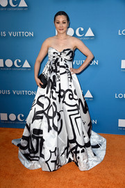 China Chow made graffiti look so glamorous with this Moschino empire-waist strapless gown at the MOCA Gala.