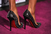Ciara flaunted this killer pair of studded pumps on the red carpet. These heels are almost dangerous, we wouldn't wanted to have a shoe war with her. Ouch!