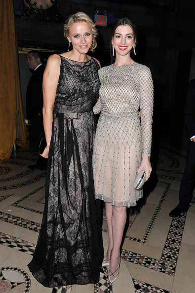 Charlene Wittstock looked like a true princess at the Princess Grace Awards in a black lace evening gown.
