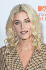 Ashley James channeled Barbie with her platinum-blonde curls at the MTV Staying Alive Gala.
