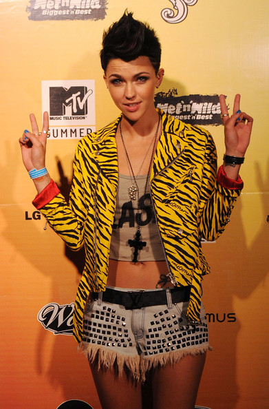 More Pics of Ruby Rose Motorcycle Jacket (1 of 4) - Ruby Rose Lookbook - StyleBistro