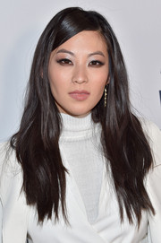 Arden Cho opted for a casual, slightly wavy 'do when she attended the MTV 'Teen Wolf' Los Angeles premiere party.