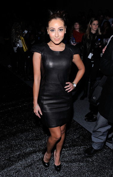 Adrienne+Bailon in Mackage - Front Row - Fall 2011 Mercedes-Benz Fashion Week