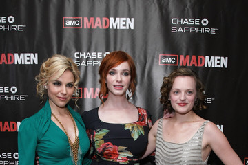 "Cara Buono Elisabeth Moss ""Mad Men"" Season 4 Finale New York Screening"