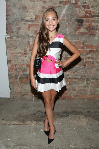 Maddie Ziegler Slingbacks [clothing,white,pink,fashion,fashion model,lady,beauty,leg,dress,footwear,christian siriano,maddie ziegler,artbeam,backstage,new york city,new york fashion week,fashion show,maddie ziegler,dance moms,reality television,actor,dance,image,photography,model]