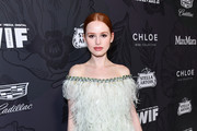 Madelaine Petsch Off-the-Shoulder Dress