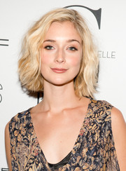 Caitlin Fitzgerald looked fab with her wavy bob at the New York premiere of 'Mademoiselle C.'