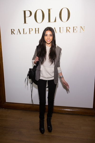 Madison Beer Lace Up Boots [clothing,fashion,footwear,runway,outerwear,fashion design,fashion show,jeans,fashion model,photography,madison beer,ralph lauren polo mens,womens,new york city,mercedes-benz fashion week,presentation,ralph lauren polo mens womens - presentation]