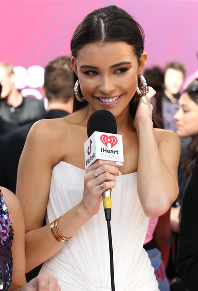 Madison Beer Diamond Ring [red carpet,beauty,fashion,model,lip,black hair,long hair,eyelash,brown hair,drink,premiere,madison beer,iheartradio music awards,commercial use,california,los angeles,microsoft theater,fox]