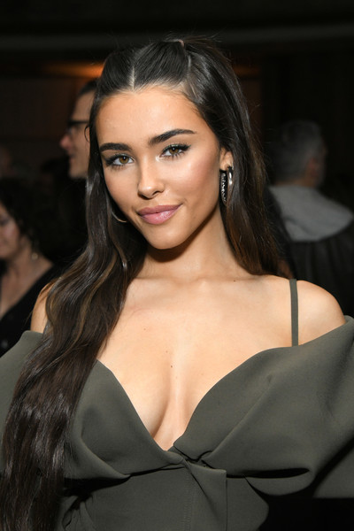 Madison Beer Gold Hoops [pop music,hair,face,eyebrow,lip,hairstyle,beauty,long hair,skin,fashion,chin,grammy,hair,face,eyebrow,republic records,hotel west hollywood,madison beer,inside,party,madison beer,west hollywood,grammy awards,radio disney,spotify,pop music,justin bieber]