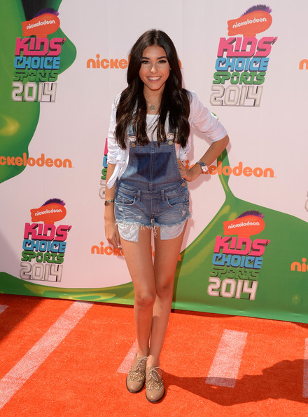 Madison Beer Romper [clothing,carpet,thigh,leg,red carpet,flooring,shorts,carpet,arrivals,madison beer,nickelodeon kids choice sports awards,red carpet,award,pauley pavilion,los angeles,california,ucla,2014 kids choice sports,pauley pavilion,2014 kids choice awards,actor,nickelodeon,2014,2019 kids choice sports,red carpet,award]