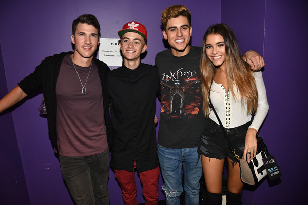 Madison Beer Leather Shoulder Bag [social group,youth,event,fun,performance,party,photography,flash photography,leisure,style,nick jonas,djs ansolo,keke palmer,jack johnson,cal shapiro,madison beer,marriott rewards present island life,l-r,island records,presentation]