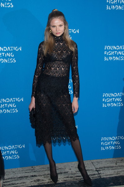 Magdalena Frackowiak Sheer Dress