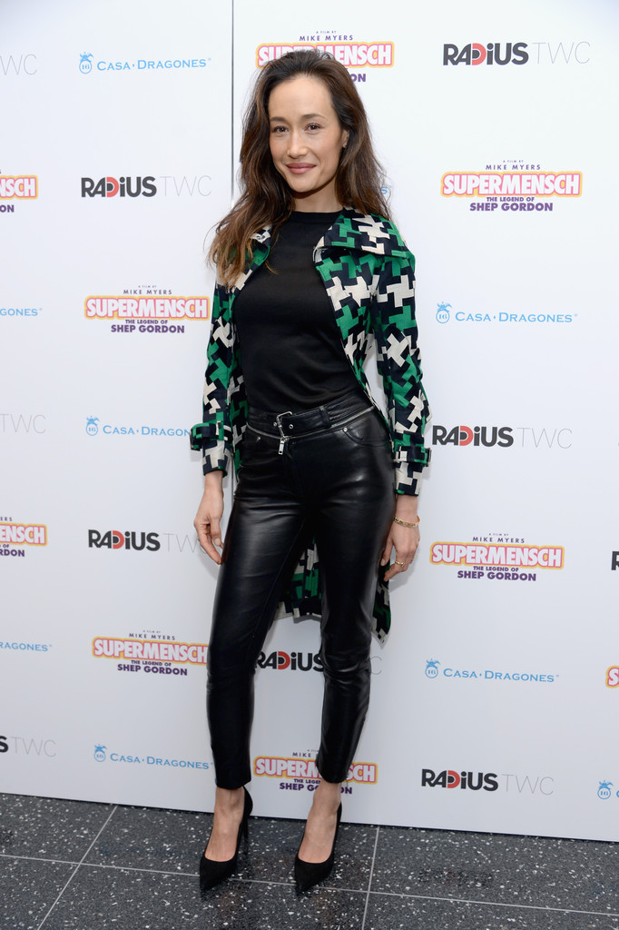 Maggie Q Leather Pants Leather Pants Lookbook Stylebistro