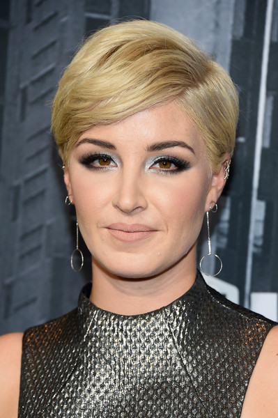 Maggie Rose Short Side Part [hair,face,hairstyle,blond,eyebrow,chin,lip,beauty,forehead,eye,arrivals,maggie rose,nashville,tennessee,music city center,cmt music awards]