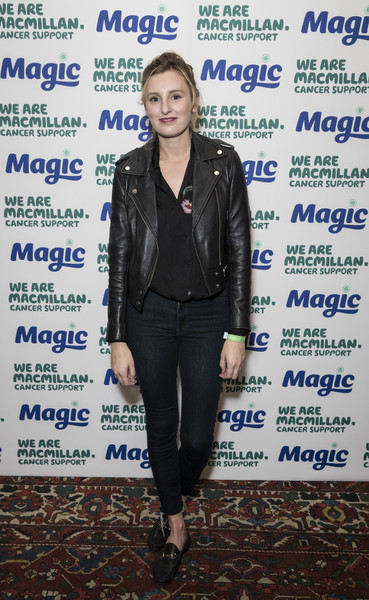 Laura Carmichael styled her outfit with a pair of black leather loafers.
