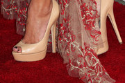 Maika Monroe Peep Toe Pumps