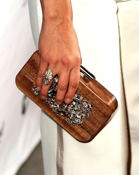 Malin Akerman Gemstone Inlaid Clutch