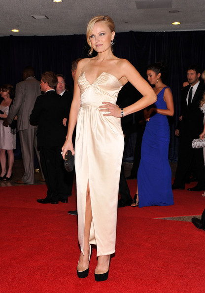 Malin Akerman Strapless Dress