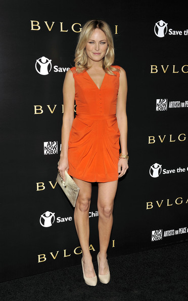 Malin Akerman arrives for a BVLGARI fundraiser benefitting Save The Children ...