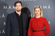 Andy Muschietti looked cool and confident in this navy striped blazer at the 'Mama' premiere in Madrid.