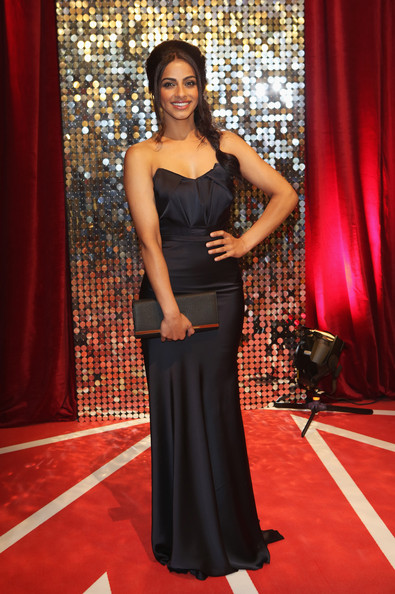 Mandip Gill Strapless Dress