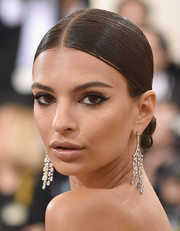 Emily Ratajkowski rocked a slicked-down twisted bun at the Met Gala.