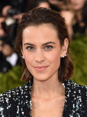 Alexa Chung rocked wet-look waves at the Met Gala.