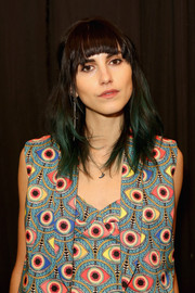 Langley Fox attended the Mara Hoffman fashion show rocking an edgy ombre 'do.