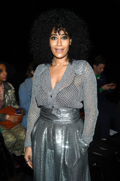 More Pics of Tracee Ellis Ross Pumps (4 of 7) - Tracee Ellis Ross Lookbook - StyleBistro [fashion,event,fashion design,dress,trunk,haute couture,fashion show,formal wear,abdomen,performance,marc jacobs,tracee ellis ross,front row,new york city,park avenue armory,marc jacobs fall 2019 show]