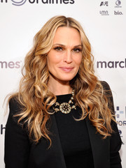 Molly Sims looked ravishing with her gorgeous wavy 'do at the March of Dimes celebration of Babies Luncheon.