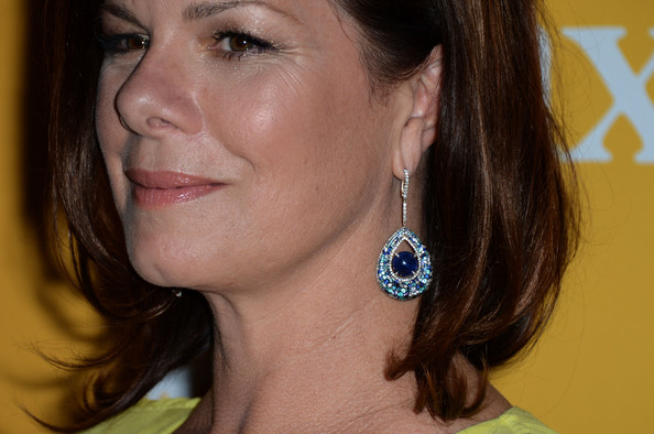 Marcia Gay Harden Dangling Gemstone Earrings [hair,face,chin,hairstyle,cheek,eyebrow,earrings,neck,nose,lip,beverly hills,california,the beverly hilton hotel,women in film crystal lucy awards,marcia gay harden]